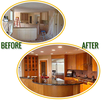 Before & After Photos, Kitchen Cabinet Painting in Newberg, OR