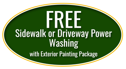 Free Sidewalk or Driveway Power Washing with Exterior Painting Package